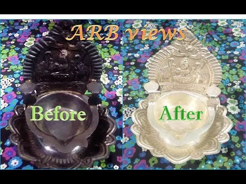 Silver Cleaner / How to clean silver pooja items at home in Tamil / Silver Cleaning Liquid
