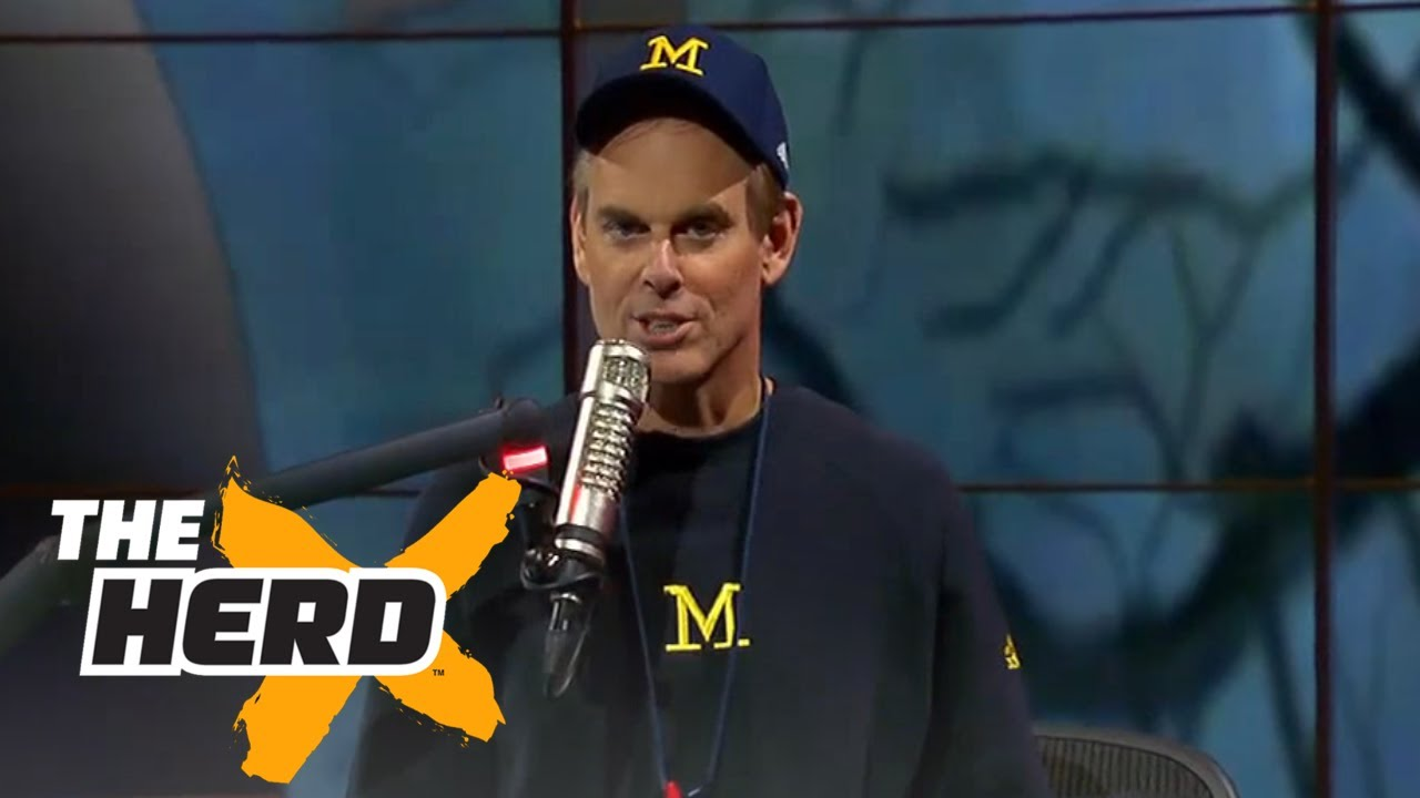 Colin Cowherd dresses up as Jim Harbaugh for Halloween | THE HERD  sc 1 st  YouTube & Colin Cowherd dresses up as Jim Harbaugh for Halloween | THE HERD ...