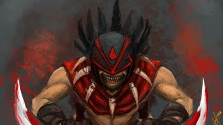 DoTa 2 How To farm fast Midas Bloodseeker! in jungle! Patch 6.86