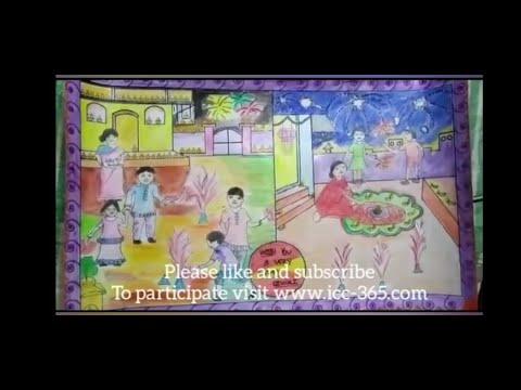 happy Diwali art