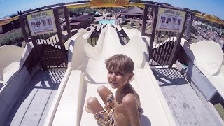 Aqua Park Fun Day in Italy ! Jump Slide Splash !