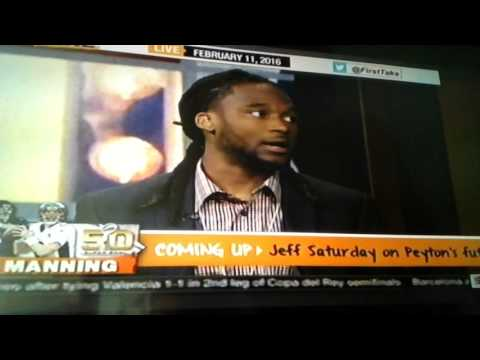 T.J. Ward and Bradley Roby talks about Superbowl on First Take- 2/11/16