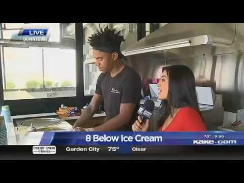 Rolled Ice Cream Trend at 8 Below in Wichita