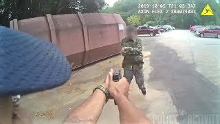 Bodycam Video Shows Man Swing Machete at Cop And Get Shot