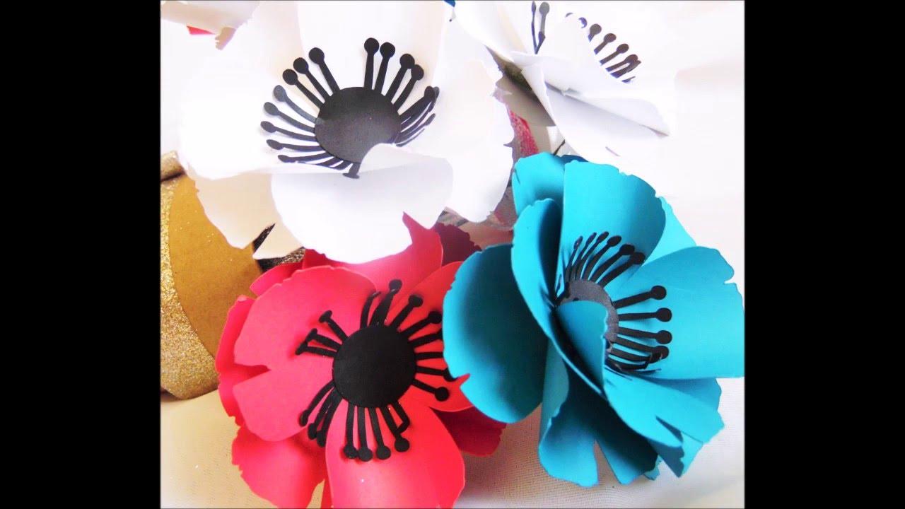 Diy Paper Flowers Youtube