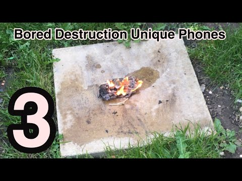 Bored Destruction Unique Phones Episode 3! LUXURY SONY ERICSSON W395?