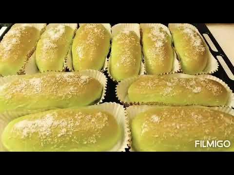 Roti Pandan Isi Kelapa Tanpa Mixer 1 Kali Proofing Hasil Lembut Youtube