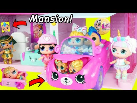 Punk Boi LOL Surprise New Shopkins Mansion House and Wedding with JOJO SIWA Get Married Lil Brother