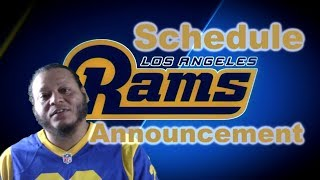 La Rams Schedule Announcement