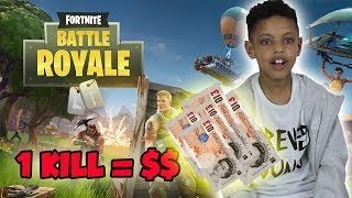 PLAYING FOR MONEY ££££!! FORTNITE BATTLE ROYALE!!