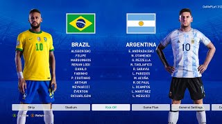 PES 2021 - Brazil vs Argentina - International Match - Gameplay - Neymar vs Messi