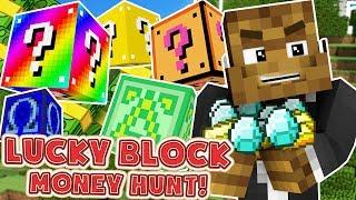 LUCKY DIP MEGA OP WEAPONS LUCKY BLOCK MONEY HUNT - MINECRAFT LUCKY BLOCK MODDED MINIGAME