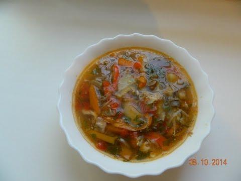 Суп с чечевицей на мясном