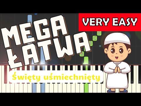 🎹 Święty uśmiechnięty (Arka Noego) - Piano Tutorial (MEGA ŁATWA wersja) 🎹