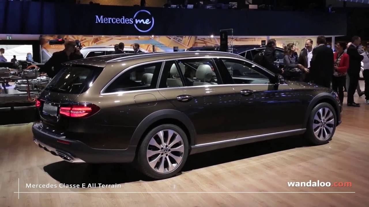 mercedes classe e all terrain au mondial de paris 2016 youtube. Black Bedroom Furniture Sets. Home Design Ideas
