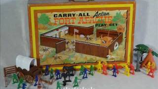 Vint. Marx ~ Fort Apache Carry-all Action Play Set ~ Circa 1968