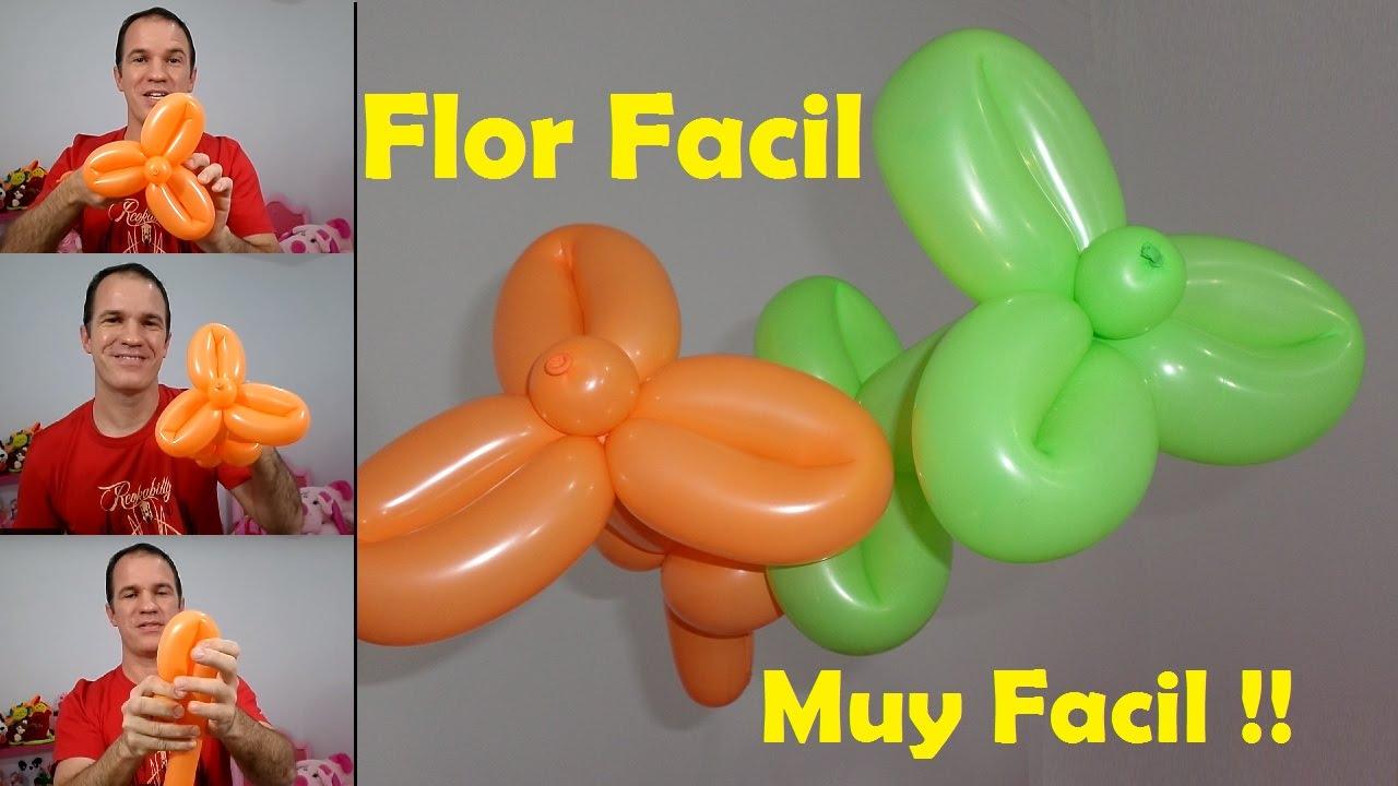 Como Hacer Flores Con Globos Globoflexia Facil Flores Con Globos