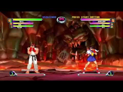 Marvel VS Capcom 2 (Xbox Live Arcade) Arcade Mode as Ryu, Ken & Akuma