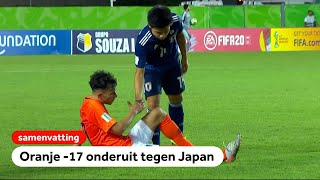 Oranje O17 hard onderuit tegen Japan (0-3)   WK onder 17   NOS Sport
