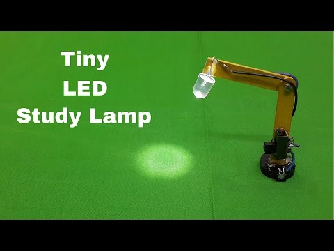 How to Make a Miniature(Tiny) LED Study Table Lamp at Home
