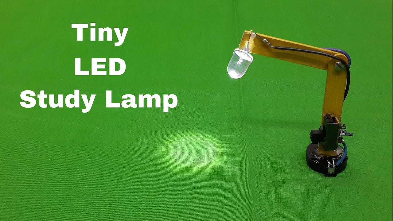 How To Make A Miniature(Tiny) LED Study Table Lamp At Home   YouTube
