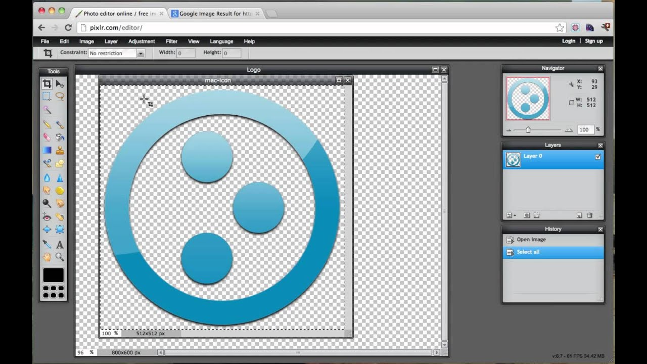 Create a logo without photoshop free youtube for Making a blueprint online