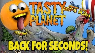 annoying orange plays tasty planet back for seconds