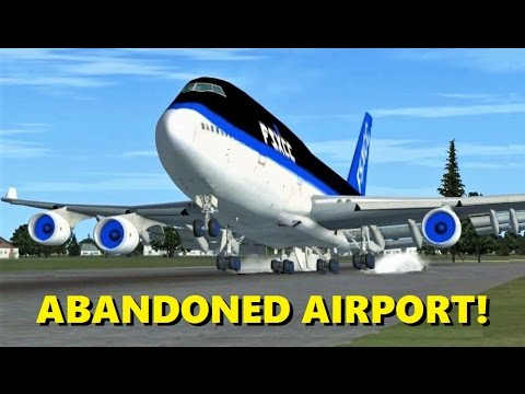 Landing Competition at an ABANDONED Airport! FSX Multiplayer (Commentary)