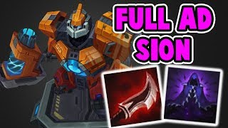 FULL AD SION TOP | INSANE DAMAGE LETHALITY IS STILL OP | League of Legends