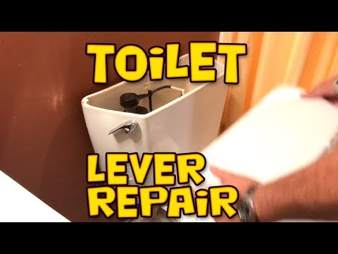 Toilet Handle Repair - Tank Lever Replacement - Korky Strongarm