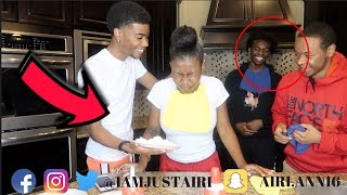 7 SECOND CHALLENGE LOSER GETS PIE IN THE FACE FT TRAY BILLS  AND THE GREAT ONES | IAMJUSTAIRI