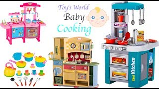 Kitchen Set for Kids Unpacking & food cooking toys!