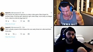 tYLER1'S REACTION TO MACAIYLA'S TWEETS ABOUT HIM | KOREAN YASSUO IS BACK | TRICK2G | LOL MOMENTS
