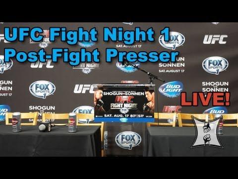 UFC Fight Night: Shogun vs Sonnen Post-Fight Press Conference (LIVE!)