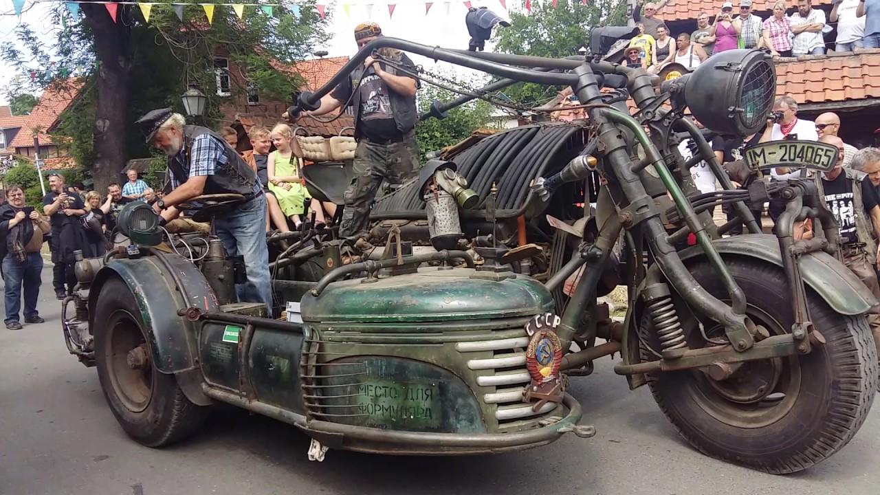 отчаянно мотоцикл с танковым двигателем фото крым