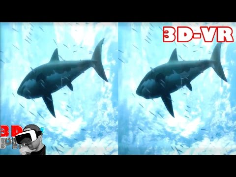 3D Extreme Ocean World Compilation  3D Side by Side SBS VR Active Passive