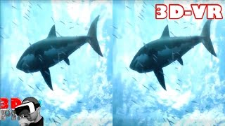 3D Extreme Ocean World Compilation | 3D Side by Side SBS VR Active Passive
