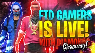 free fire live custom rooms || free fire diamonds giveaway live ||  FTD Gamers