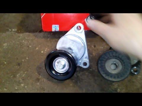 Chevrolet Lacetti замена натяжного ролика и ремня ручайкового.