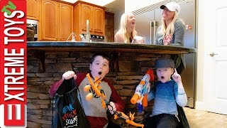 Sneak Attack Squad Capture The Bag! Hide and Seek Vs The Babysitters!