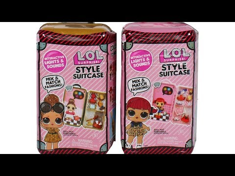 LOL Surprise Style Suitcase Cherry And Boss Queen Unboxing Toy Review