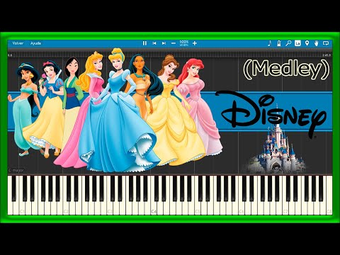 Disney Theme Songs - Medley (Piano Tutorial)