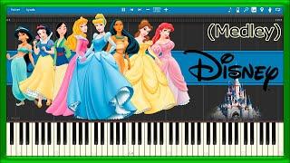 DISNEY Theme Songs 💙 MEDLEY 🎼 (PIANO TUTORIAL) 🎹 #19