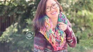 Arm Knit Chiffon Cowl Pattern & Kit