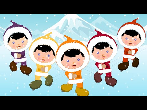 Five little Eskimos  Kindergarten Nursery Rhymes For Toddlers  Cartoons For Children  Kids Tv