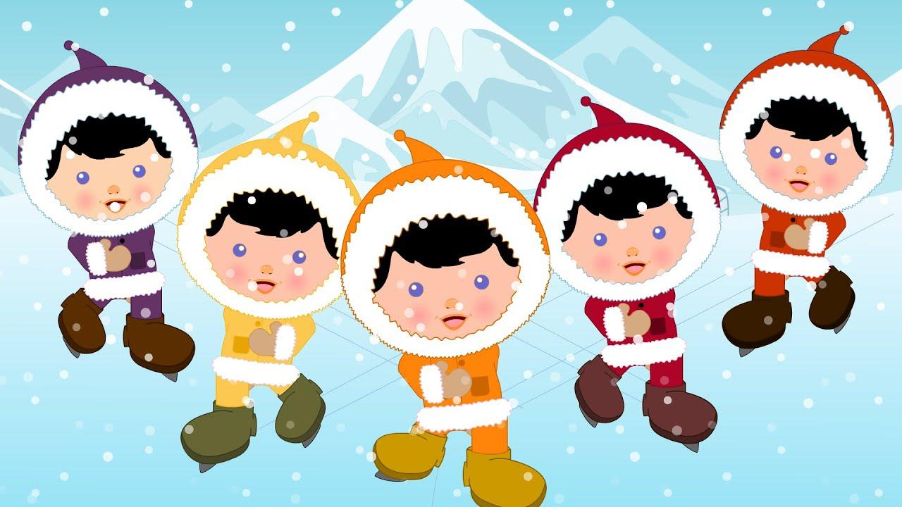 Five little Eskimos   Kindergarten Nursery Rhymes For