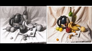 Still Life Drawing in Pencil with reference photos 02