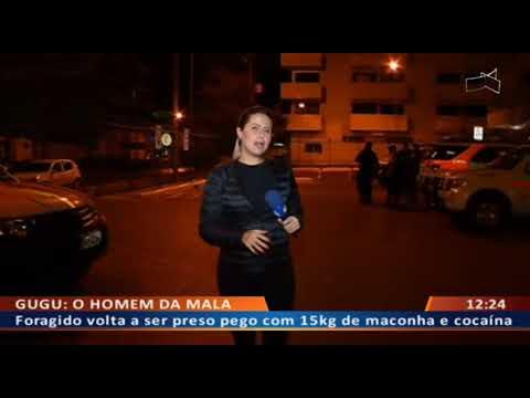 DFA - O homem com uma mala recheada de maconha foi preso na QSD 33 em Taguatinga Sul