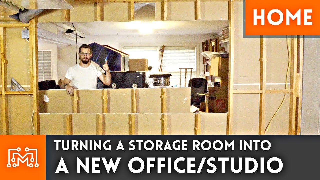 Storage Room To Office/Studio Conversion // Home Renovation