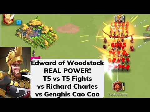 Edward True Power! T5 Vs T5! Edward YSG Vs Richard Charles Vs Genghis Cao Cao! Talents Included!